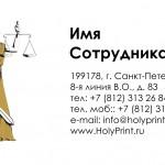 Бесплатный макет визитки для судей