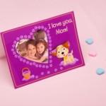Шаблон-открытка с фотографией для мамы своими руками