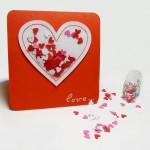 Валентинка с сердечками своими руками