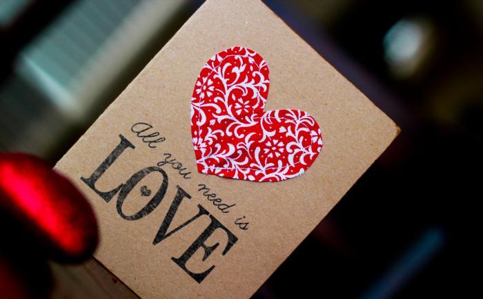 Подписать открытку любимому