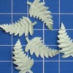 Листочки с прожилками для украшения открытки своими руками