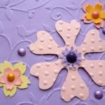 Цветные полубусинки для украшения открытки своими руками