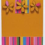 Весенняя поздравительная открытка с цветами и бантиком своими руками