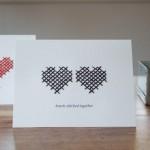 Простая открытка на день святого Валентина своими руками