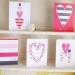 5 готовых шаблонов для печати открыток с сердечками для влюбленных