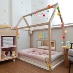 Топ 30 идей как организовать интерьер детской комнаты с деревянной кроваткой в виде домика