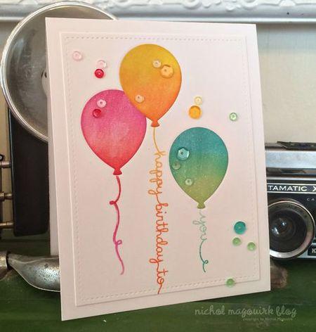 Открытка с днем рождения с воздушными шарами своими руками мастер класс