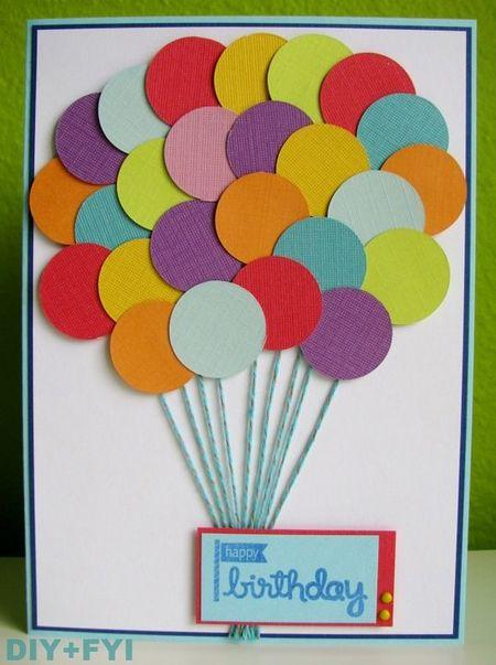 Мультики уолт, открытка с воздушным шаром из цветной бумаги