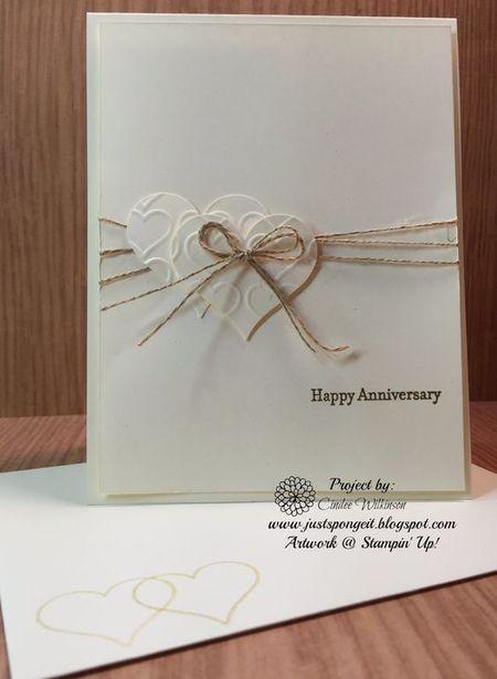 изображение свадебной открытки, перевязанной грубой ниткой