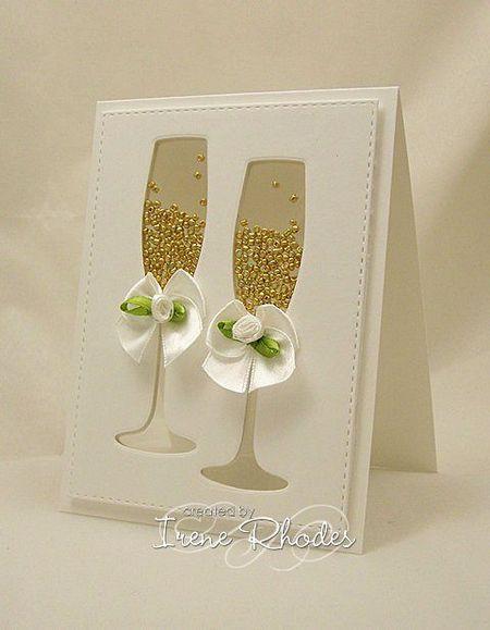 изображение свадебных бокалов на открытке