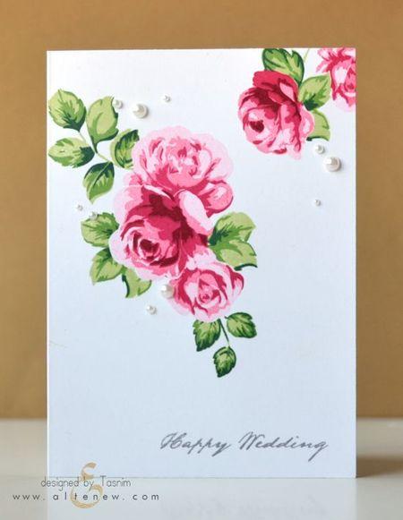 фото свадебной открытки с цветами