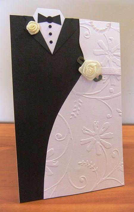 фото свадебной открытки с контурами одежды