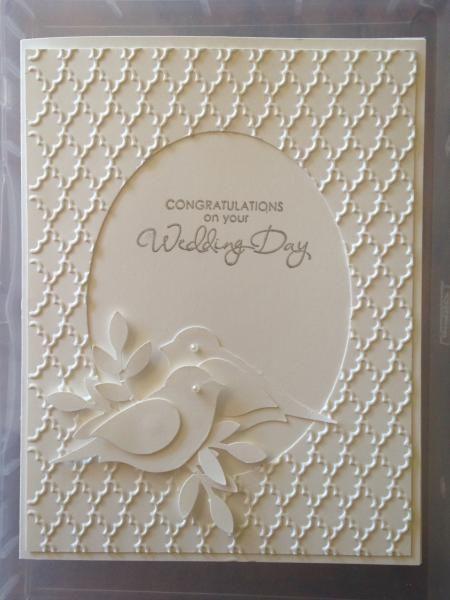фото объемного узора на свадебной открытке