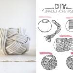 Как сделать вазы из веревки в морском стиле своими руками