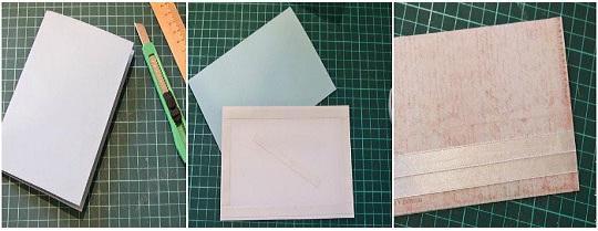 этапы создания поздравительной свадебной карточки