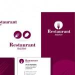 Шаблон визитки ресторана