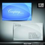 Синяя визитка в eps