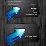 Шаблон двухсторонней визитки для банка