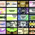 Шаблоны визиток для молодежных магазинов