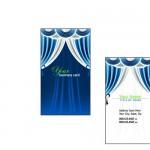 Образец визитки со шторами