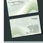 Шаблон визитки с кругами и волнами