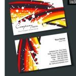 Шаблон визитки с радугой