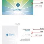 Двухсторонняя визитка для IT компании