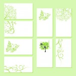 Зеленые шаблоны визиток с природой