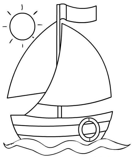Кораблик для открытки к 23 февраля шаблон