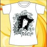 Образец принта «Девушка в шляпе»